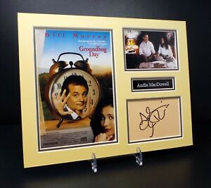 Andie MACDOWELL Signed Mounted Photo Display AFTAL RD COA Groundhog Day Actress
