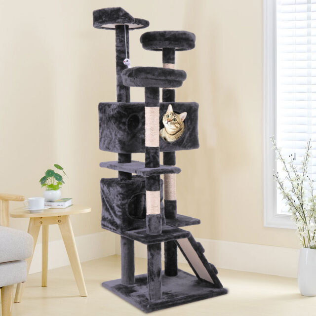 Super 60 Cat Tree Tower Condo Furniture Scratching Post Pet Kitty Play House Black Download Free Architecture Designs Scobabritishbridgeorg