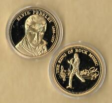 ELVIS PRESLEY 1935 - 1977 GOLD COLLECTOR COIN THE KING OF ROCK MUSIC