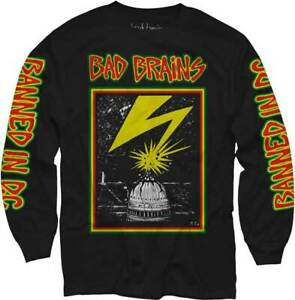 Bad Brains Build A Nation Rock Men/'s Long Sleeve Black T-Shirt Size S to 3XL