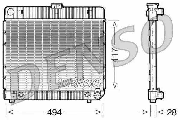 1x denso Radiador DRM17021 DRM17021