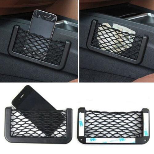 Hot Sale Universal Car Seat Side Back Net Bag Phone Holder Pocket Black NEW US