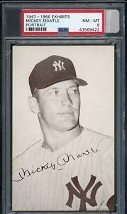 Mickey-Mantle-1947-66-Exhibits-Portrait-Yankees-Card-PSA-8