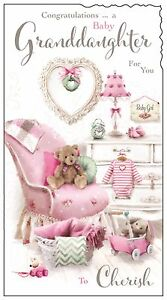 image is loading congratulations on your new baby granddaughter card nice