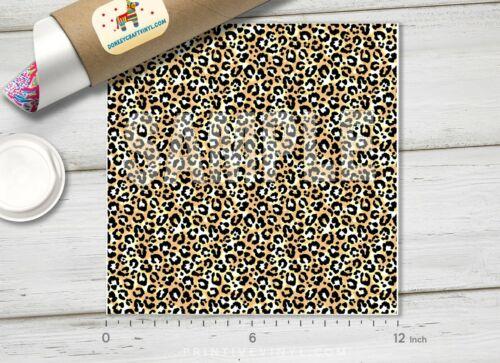 906 Printed Adhesive Vinyl Heat Transfer Vinyl Leopard Patterned HTV