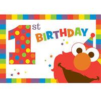 Sesame Street Elmo Turns One Invitations (8) Birthday Party Supplies Invites