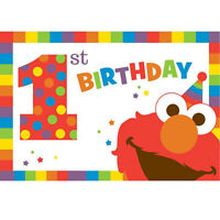 Sesame Street Elmo Turns One Invitations (8) Birthday Party Supplies Invites