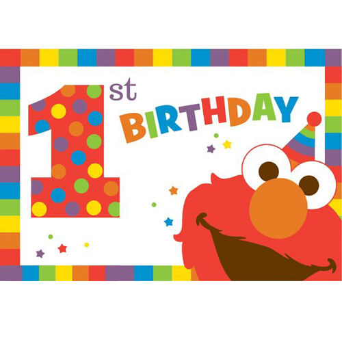 Sesame Street Elmo 1St Birthday Invitations 8Ct Party Decoration Favor Supplies For Sale Online