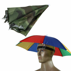 0f8f6148787b2 Convenient Adult Kid Umbrella Hat Cap Outdoor Sun Shade Camping ...