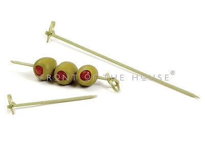 """Pack of 100 Knotted Bamboo Pick 4.5"""" Cocktail / Party / Olive Toothpick"""