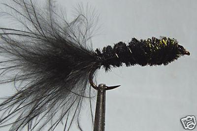 1 x fly fishing streamer dognobbler black h8//10//12 larva fly fishing trout