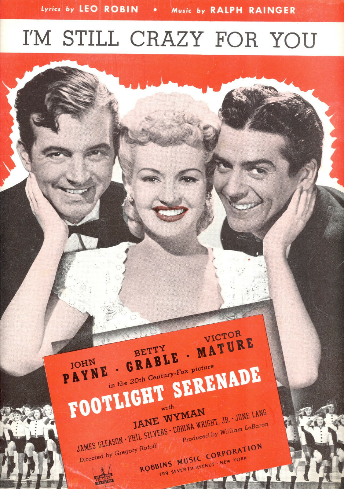 FOOTLIGHT SERENADE Sheet Music