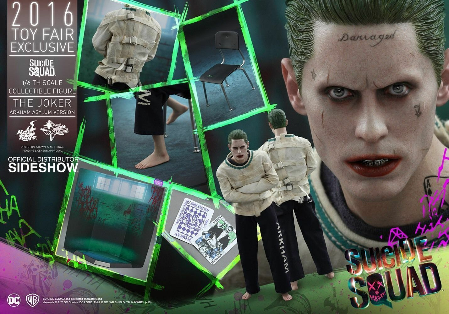 Hot Toys Suicide Squad The Joker MMS373 Arkham Asylum Ver Toy Fair EXCLUSIVE