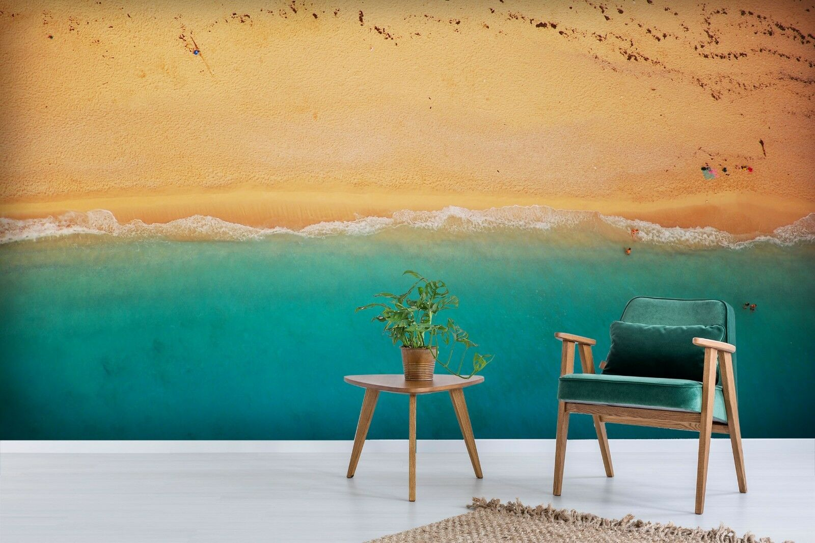3D Sand Beach Waves 5 Wallpaper Murals Wall Print Wallpaper Mural AJ WALL AU