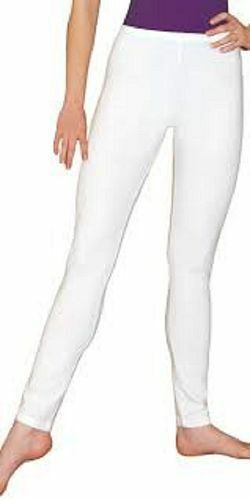 S - 3XL Ladies Cotton Full Ankle Leggings Black and White Size 10-20