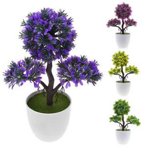 Fashion-Topiary-Artificial-Tree-Home-Decor-Plant-Pot-Ornament-Plastic-Greet-Tree