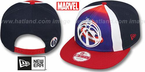 Wizards /'MARVEL RETRO-SLICE SNAPBACK/' Navy-Red Hats by New Era