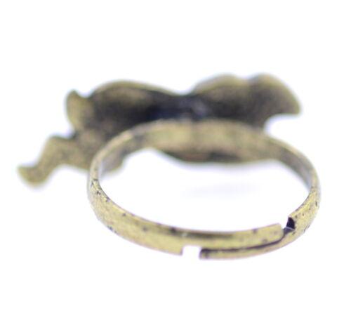 Ajustable Estilo Vintage Antiguo anillo de color bronce Conejo Bunny