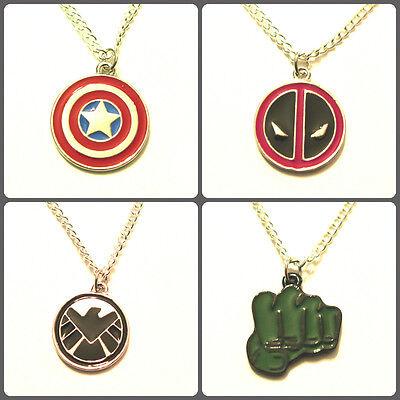 Marvel Avengers SHIELD Deadpool Hydra Thor Loki Iron Man Hulk pendant necklace