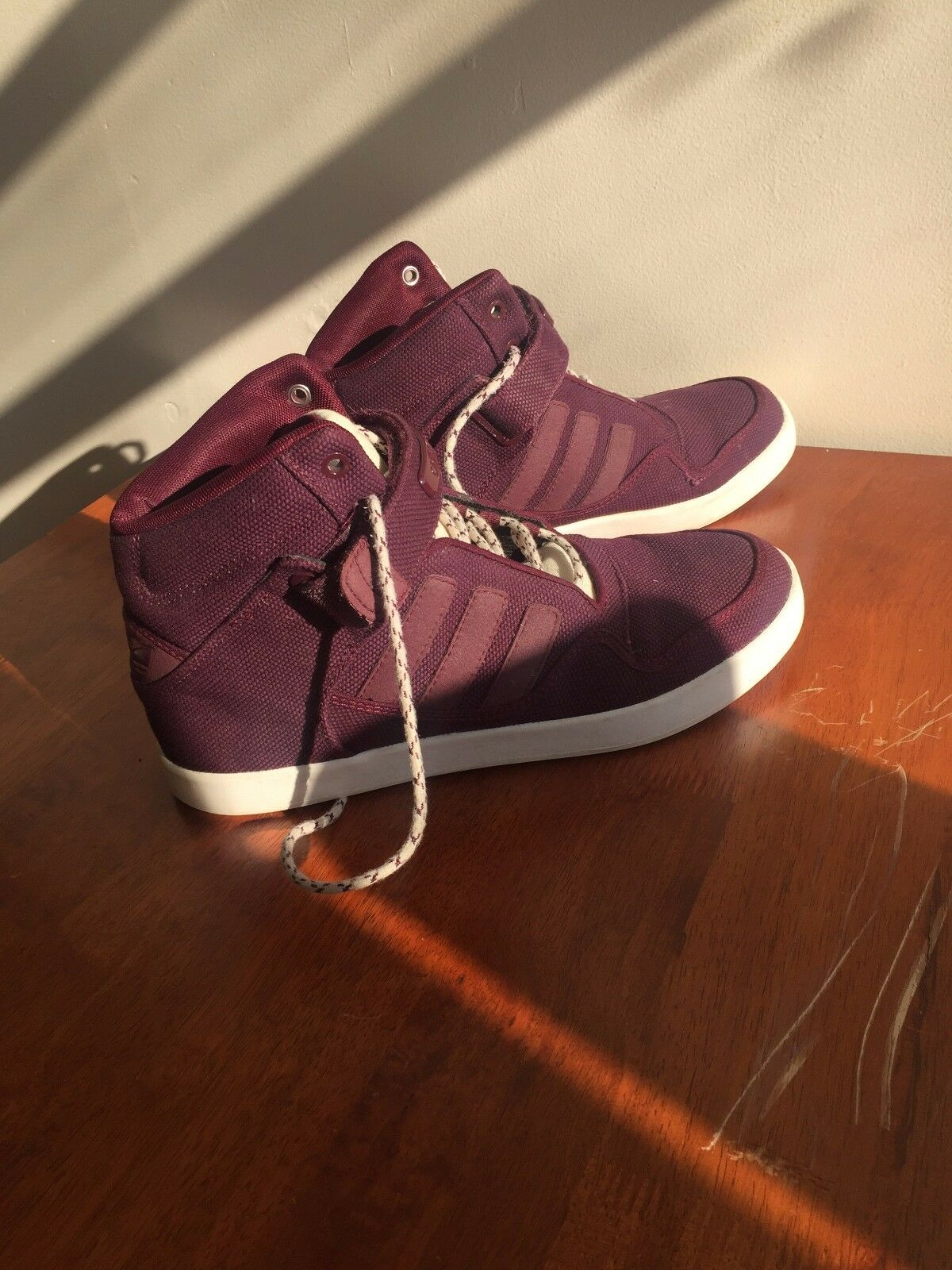 Adidas High Top burgundy classic collection sneakers size 9,5