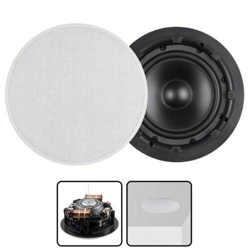 In Ceiling In Wall 8-inch Subwoofer with Dual Voice Coil Polypropylene 8 ohms
