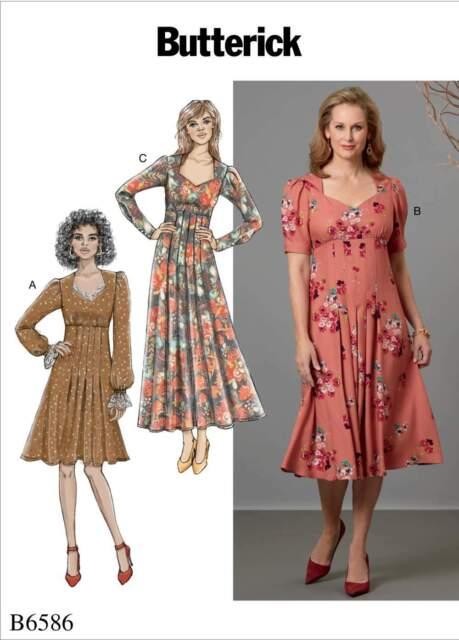 Butterick USA Schnittmuster B 6241 E5 Damen Kleid Kleider ...