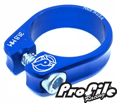 Seatpost Clamp from PROFILE Slim Jim S-Post Clamp 31.8mm Blue