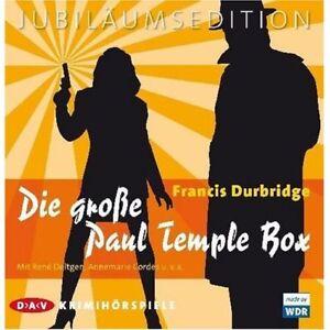 Francis-Durbridge-Die-grosse-Paul-Temple-Box-NEU-20-CD-Hoerbuch-CDs-RARITAT