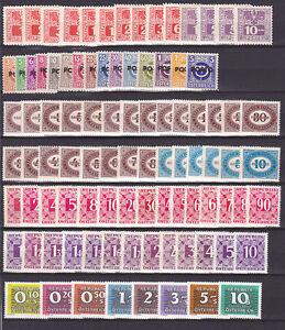 Osterreich-PORTO-1945-89-pf-5-Saetze-93-Werte