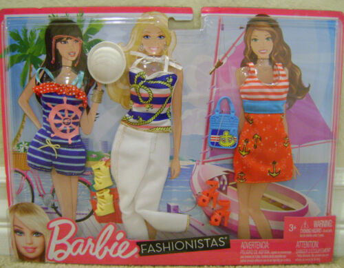 BARBIE FASHIONISTAS FASHION CRUISE SAILOR NAUTICA OUTFITS AND ACCESSORIES *NEW*