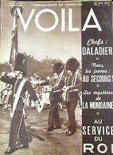 REPORTAGES PHOTOS VOILA 1938 DALADIER SOLDATS ANGLAIS  POLICE MONDAINE PIN UP
