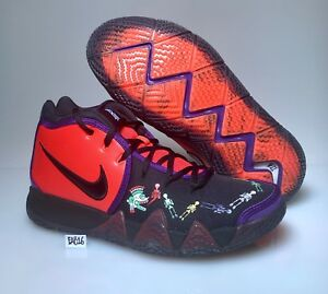 meet ac38e 4fe2c Details about Nike Kyrie Irving 4 IV Day Of The Dead DOTD TV PE 1 Team  Orange Black CI0278-800