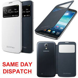 huge selection of e24eb 77255 Details about Genuine Samsung S VIEW FLIP CASE Galaxy MEGA 6.3 GT i9205  mobile phone cover