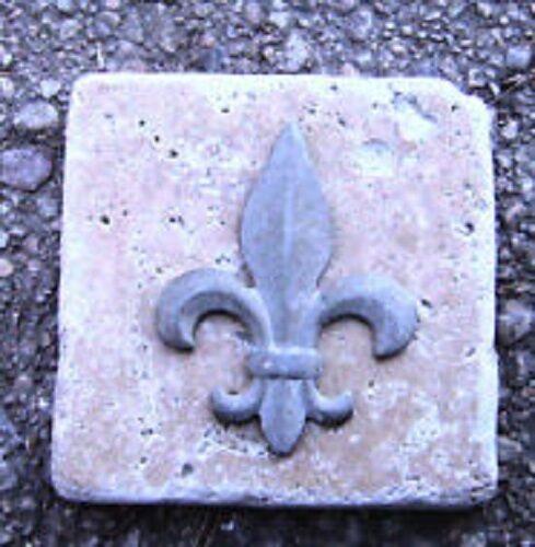 Plaster cement fleur de lis plastic travertine tile mold 4