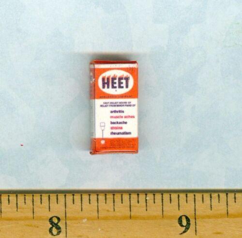 Discontinued DOLLHOUSE MINIATURE Size HEET Liniment Box
