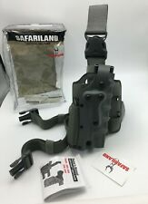 Safariland 3085 Military Tactical Thigh Green Holster Ambi Beretta 92 With Light