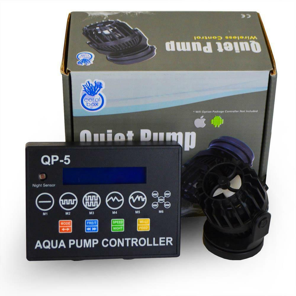 CORAL BOX - QP-5 QUIET PUMP WITH WIRELESS CONTROL (10-50 GALLONS)