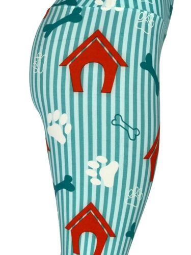 Dog Puppy Paw Prints Houses Bones Leggings Tall /& Curvy Yoga TC FREE SHIPPING
