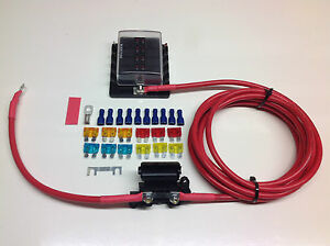 Fuse box distribution kit with ready made leads available 6-way or 10-way