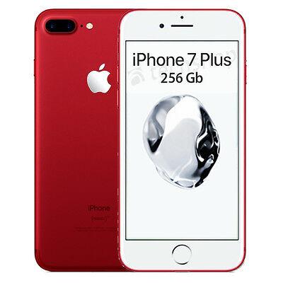 """Apple • iPhone 7 PLUS 256Gb RED • GARANZIA 2 ANNI • Rosso 5.5"""" 12Mpix 4G • NUOVO"""