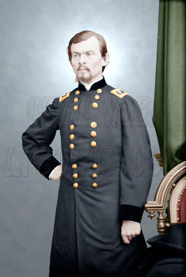 U.S. Major General Franz Sigel Farbe photo Civil War  Pea Ridge - 05089