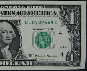 2017-1-ONE-DOLLAR-NOTE-BILL-FANCY-SERIAL-NUMBER-MIXED-SCATTERED-LADDER