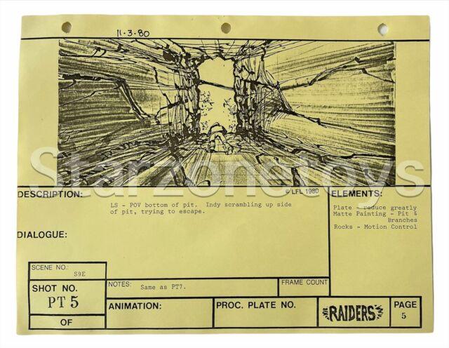 Indiana Jones Raiders Of The Lost Ark Original Production Used Storyboard TM3*