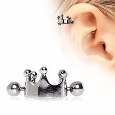 Crown Cartilage Ear Cuff 316L Surgical Steel