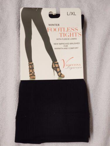 2 X Women/'s Valentina Winter Footless Tights Warm Tights L//XL