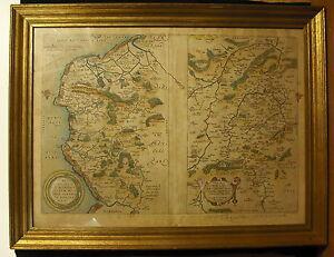 Interessante-carte-XVII-eme-Caen-Saint-Quentin-Vermandois-Comte-de-Oye-Guisnes
