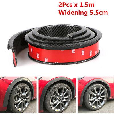 "118/"" Carbon Fiber Car Fender Flare Wheel Eyebrow Protector Wheel Arch Trim Strip"