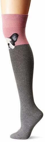Socksmith Womens Over the Knee French Bulldog Novelty Socks New