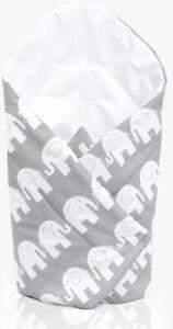 Envoltura-swaddle-Bebe-Recien-Nacido-Manta-De-Algodon-Bolsa-De-Dormir-babymam-Gris-Elefante