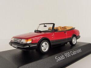 Saab-900-Turbo-16-Cabriolet-1992-Rojo-1-43-Norev-810042-Convertible-Cabrio-Rojo